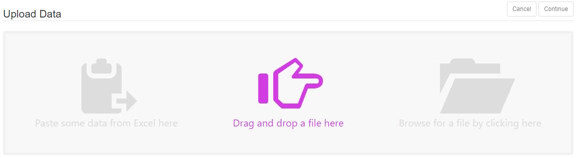 Upload Data Purple Icon